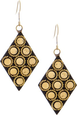 SKGB Golden Big Alloy Dangle Earring