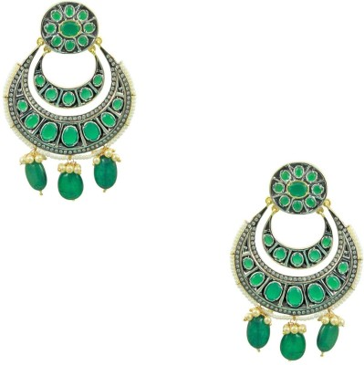 Orniza Antique Victorian Chaand Bali Fashion Brass Chandbali Earring at flipkart
