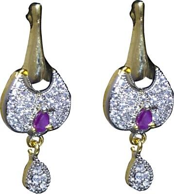 Mini Muskan Cz Earring Cubic Zirconia Brass Drop Earring