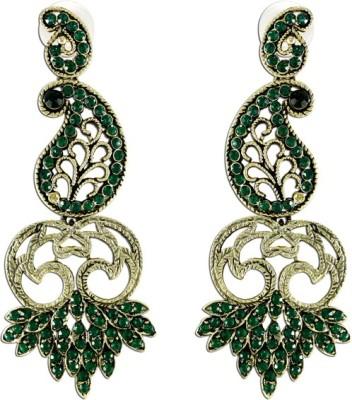 The Fine World Designer Long Zircon Metal Drop Earring