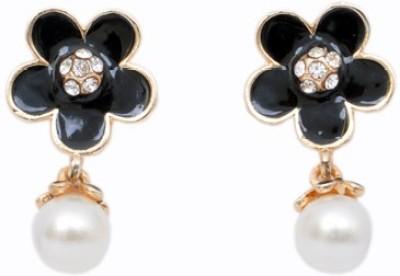 WoW Black & White -Glass Alloy Drop Earring