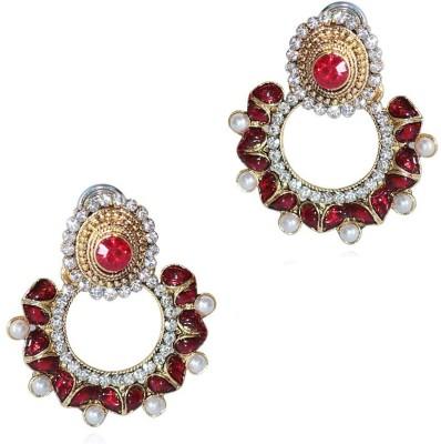 Grand Jewels Mahi2 Emerald Alloy, Brass Chandbali Earring