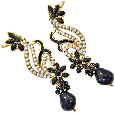 Surat Diamond Angel of The Night Pearl Metal Cuff Earring