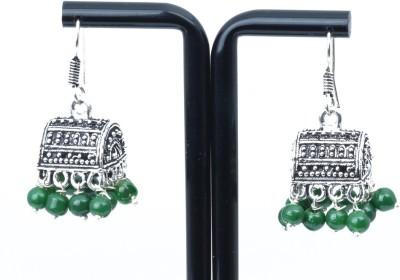 Waama Jewels charming Green Metal Jhumki Earring