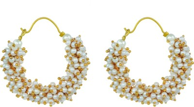 Rasaam Best White Alloy Clip-on Earring