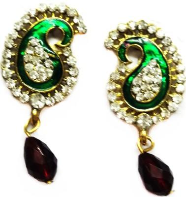 SB Fashions Green maroon earring Brass Drop Earring