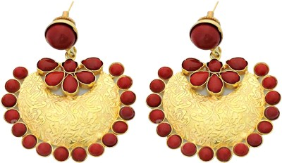 Cultural Fusion South style Alloy Chandbali Earring