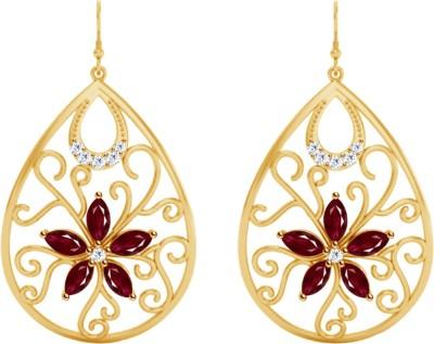 JacknJewel Enchanting Yellow Gold 18kt Diamond Drop Earring