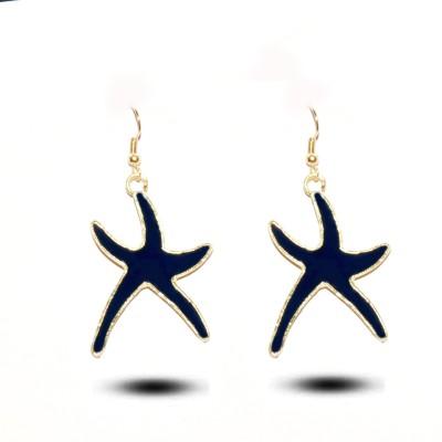 Gajraula Crafts Blue Alloy Dangle Earring