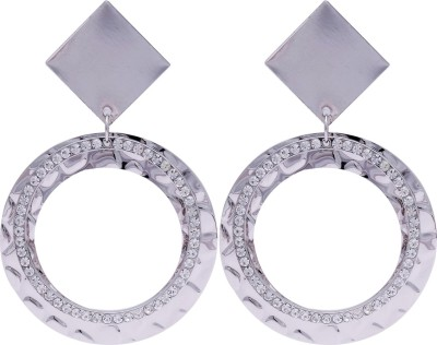 Super Drool Embellished Circle Alloy Drop Earring