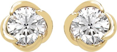 Sparkling Drop Spring Sparkle Cubic Zirconia Brass Stud Earring