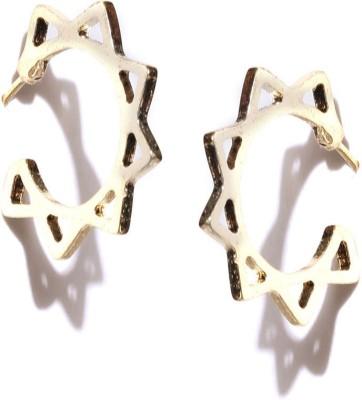 ToniQ Floral Metal Hoop Earring