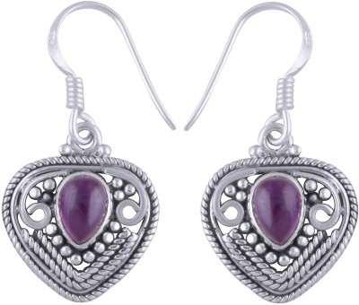 Silver Prince Designer Amethyst Silver Dangle Earring