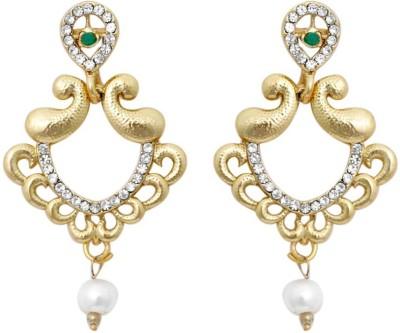 KANISH Ravishing Gold Alloy Drop Earring
