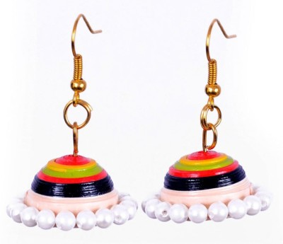 Rivory Bros Ethnic Quilled Multi Coloured Jhumkis Paper Dangle Earring