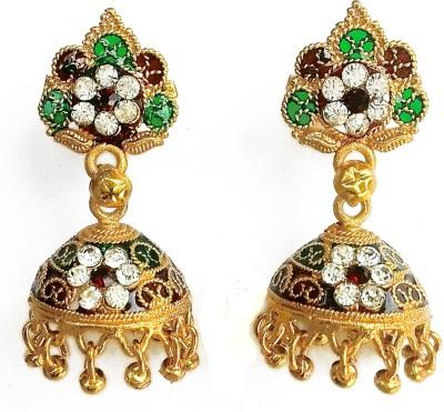 Jaipuria Zircon Brass Jhumki Earring