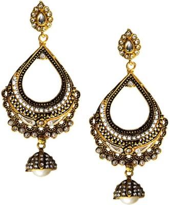Beingwomen Elegant Oxidised Gold Plated Fashion Alloy Chandbali Earring