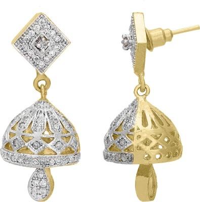 Shanti Jewellery Classic AD Earrings Brass Jhumki Earring