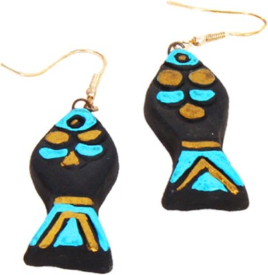 Purpledip Terracotta Ceramic Dangle Earring