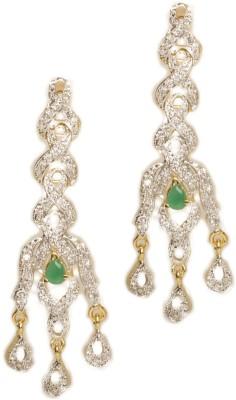 Joyas Stylish Look Brass Chandelier Earring