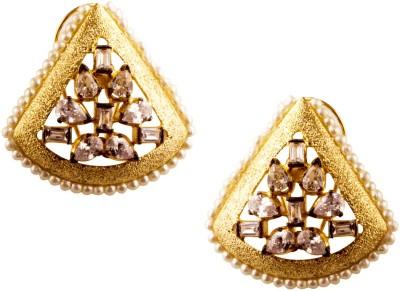 Jahnvi Triangular Metal Stud Earring