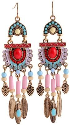 KooKoo Fashion Symmetric Statement Tassels Earring Beads Alloy Dangle Earring