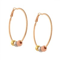 Zephyrr Zephyrr Fashion Beaded Hanging Hoop Earrings for Women Alloy Hoop Earring best price on Flipkart @ Rs. 249