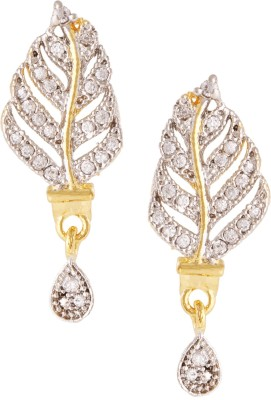 Fashionaya White Flame Cubic Zirconia Alloy Drop Earring