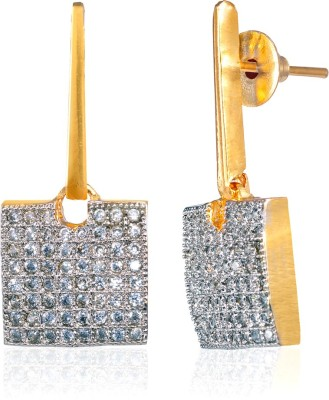 Fashion Fusion ES012001A Aarifah Cubic Zirconia Brass, Alloy Drop Earring