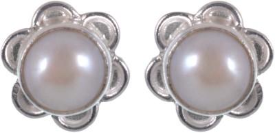 Jay mataji jewels Spring Sparkle Pearl Sterling Silver Stud Earring