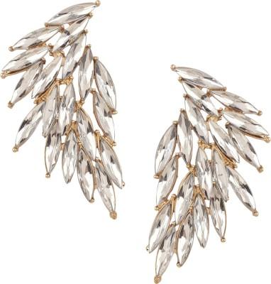 Wildflower Metal Feather Earrings Metal Stud Earring