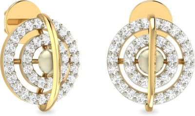 WearYourShine by PC Jewellers PC Jeweller The Fainchhe Yellow Gold 18kt Diamond Stud Earring at flipkart