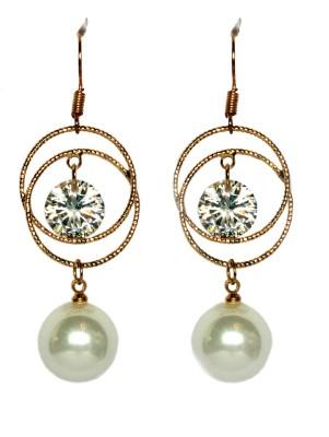 Sparkling Trinkets White Alloy Drop Earring
