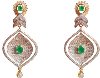 JDJ Imitation Jewelleris AD Green Alloy Drop Earring