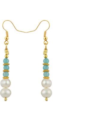 Pearlz Ocean Palatial Pearl, Jade Alloy Dangle Earring