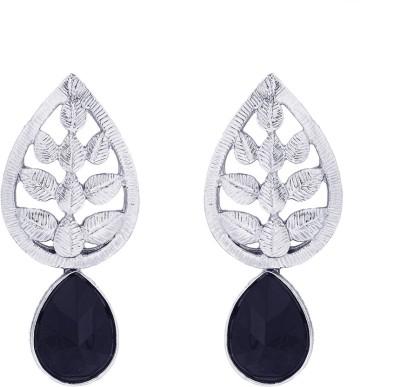BeBold Drop Stone Antique Brass Drop Earring