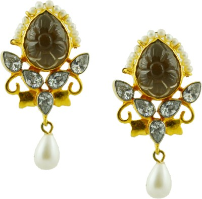 Maalyaa latest collections Brass, Copper Drop Earring