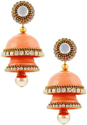 Jaipur Raga Fancy Artificial Handcrafted Double Jhumka Brass Jhumki Earring