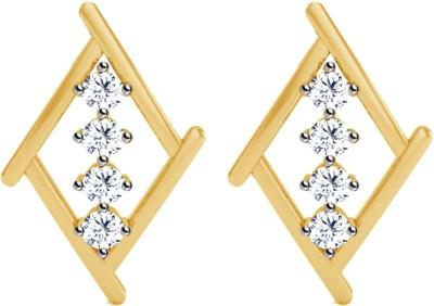 JacknJewel Enchanting Kite Yellow Gold 18kt Diamond Stud Earring