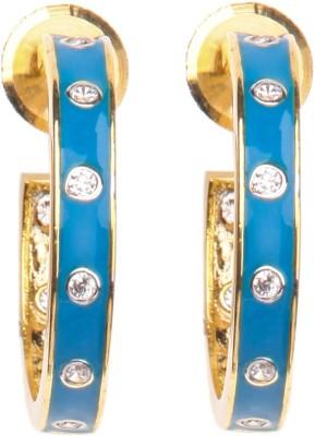 Crimson21 Artificial Blue Earrings with studs Alloy Hoop Earring