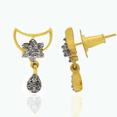 Silvesto India 719 Cubic Zirconia Stone Drop Earring