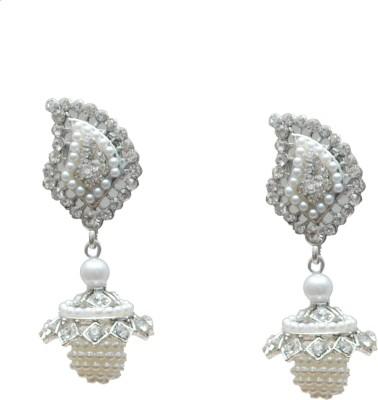 Neelam platum Alloy Jhumki Earring