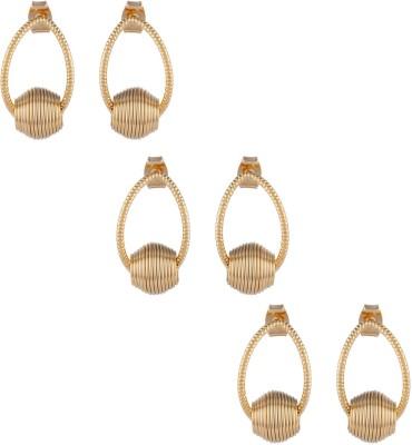 Dubbai Gold Rings Design Metal Earring Set