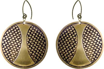 Kenway Retail Zingara Brilliance Brass Dangle Earring