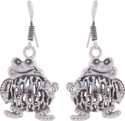 T M FASHIONS oxidised German Silver Dangle Earring