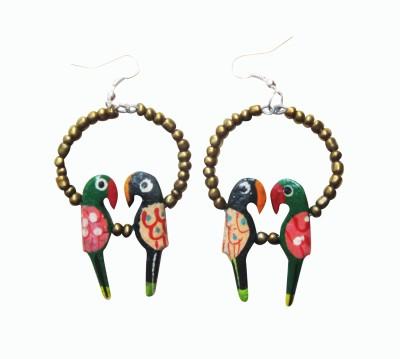 Juhi Malhotra Multicolor Beauty Wood Drop Earring