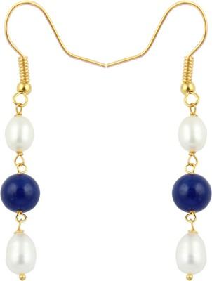 Pearlz Ocean Exhorting Pearl, Jade Alloy Dangle Earring