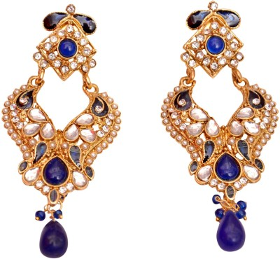 Neelam Fashions And Accessories blue color dangle earings Alloy Chandelier Earring