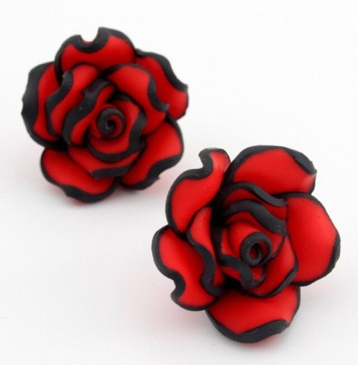 Krazzy Collection Rose Flower Alloy Stud Earring