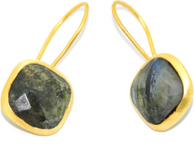 Casa De Plata Chushion Grey Labradorite Brass Earring Labradorite Brass Dangle Earring